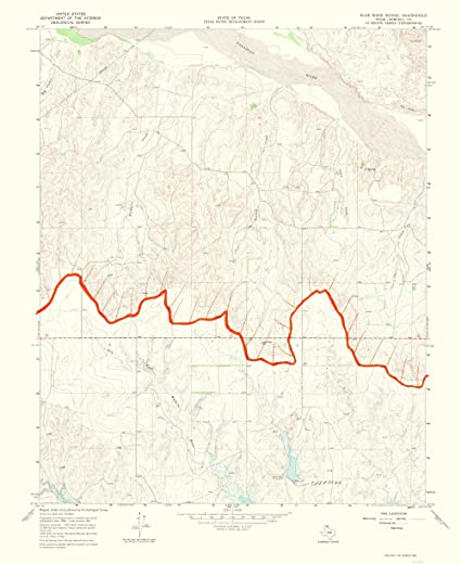 Amazon.com: Topographical Map Print - Blue Ridge Panhandle Texas ...