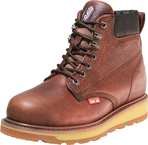 men steel toe safety leather boots lightweight dual density sole sizes 6-14