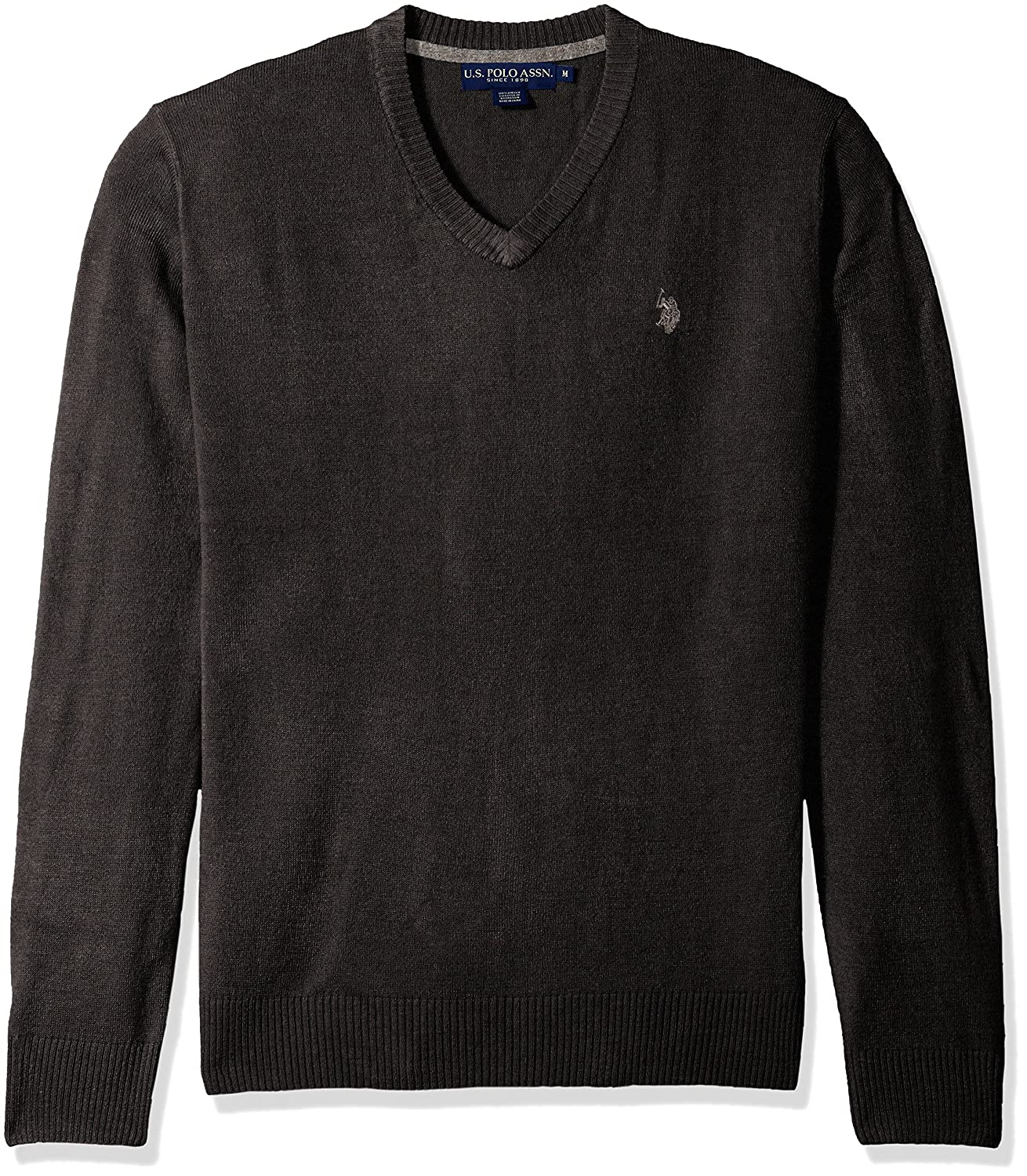 Mens Solid V-Neck Sweater ACUF7S5070 U.S Polo Assn