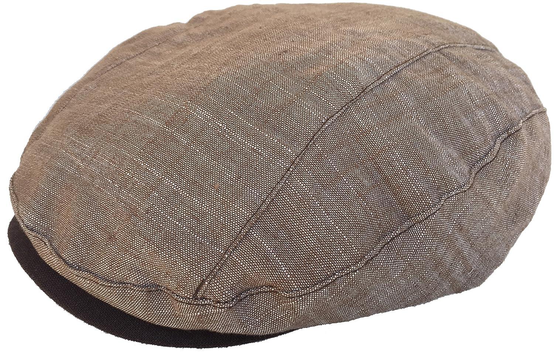 DPC 100/% Linen Ivy Cap Modified Linear Cut 5 Point Newsboy Drivers Hat