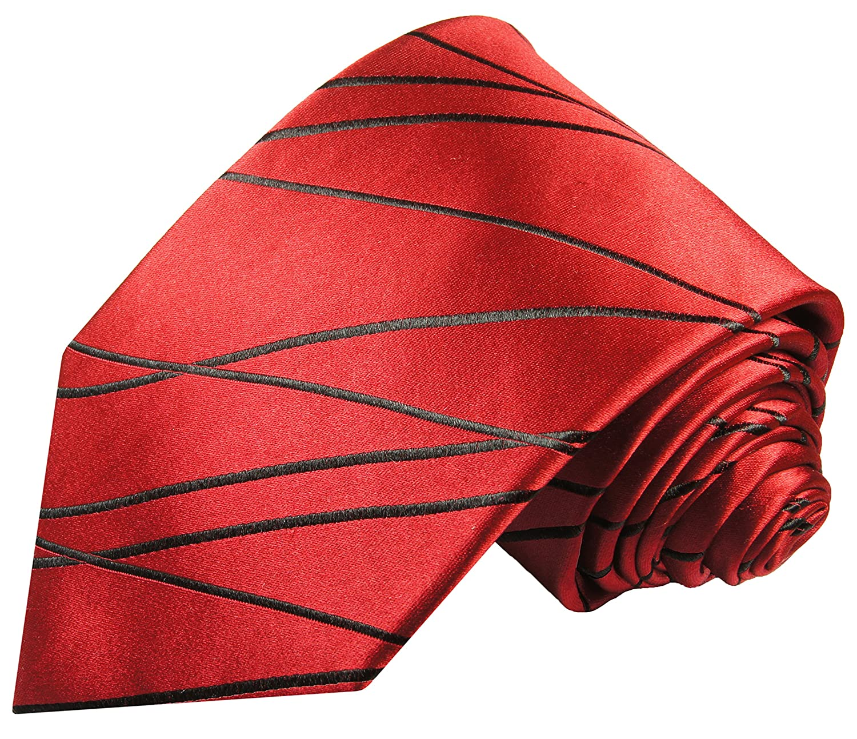 P.M. Krawatten Paul Malone Corbata de seda rojo + pañuelo: Amazon ...