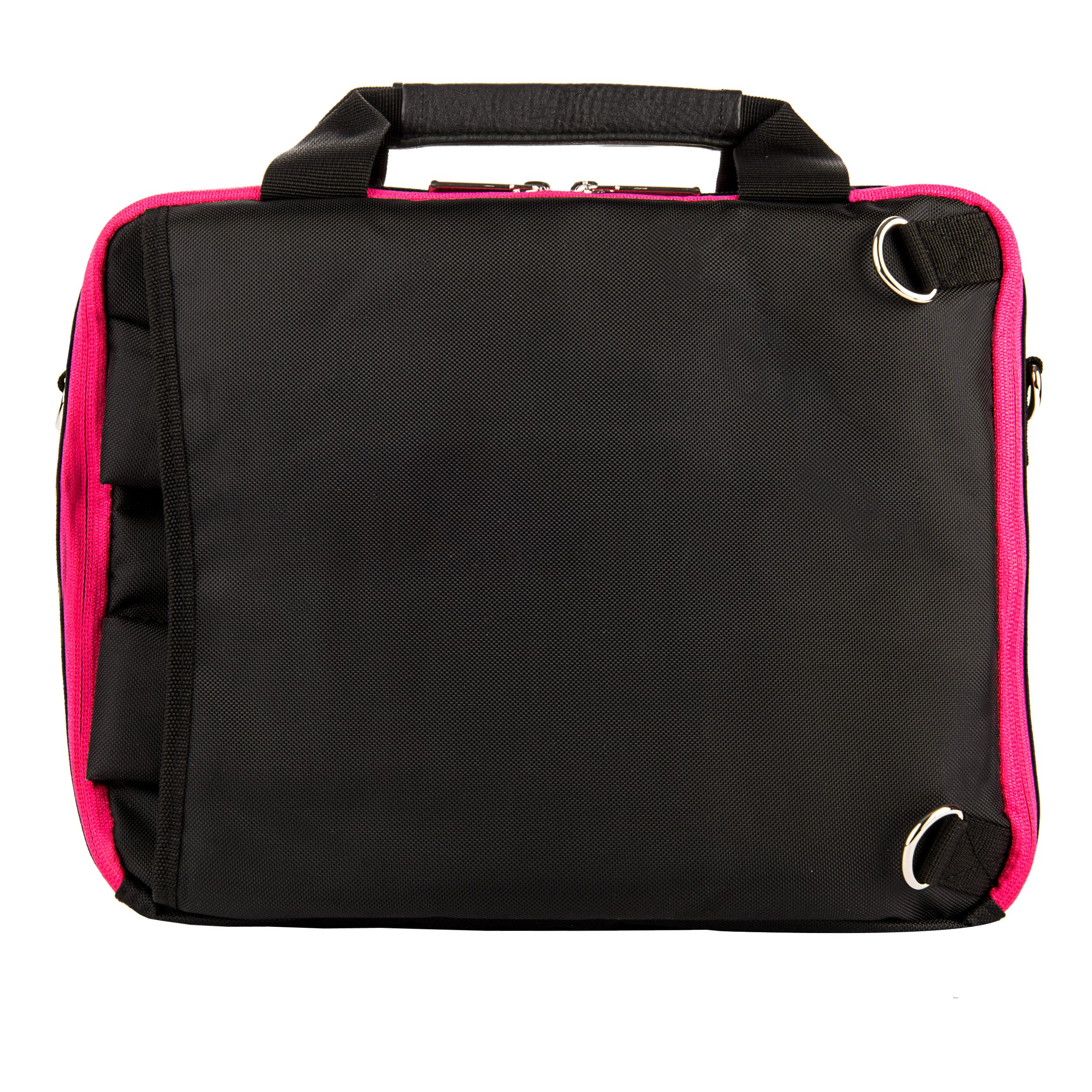 Executive Travel Carrying Bag, Messenger Bag & Backpack For Samsung Galaxy Tab PRO / Galaxy Note PRO 12.2'' Tablet + Pink Bluetooth Suction Speaker by Vangoddy (Image #3)
