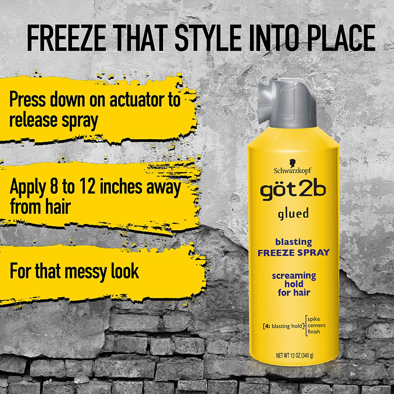 Got2b Glued Blasting Freeze Hairspray, 12 Ounce : Hair Sprays : Beauty