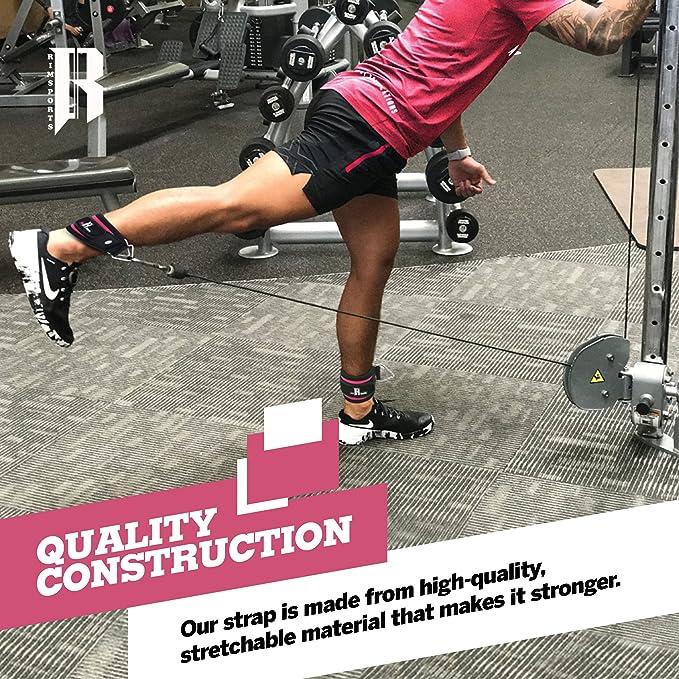 Par de correas para el tobillo para máquinas de poleas de alta calidad. La mejor correa de tobillo para equipo de entrenamiento de pierna.