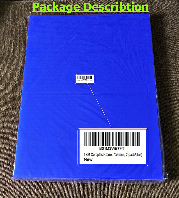 TSM Coroplast Correx Poster Corrugated Plastics Sheets Sign Blank Board 24x18x4mm., 5-pack//blacks