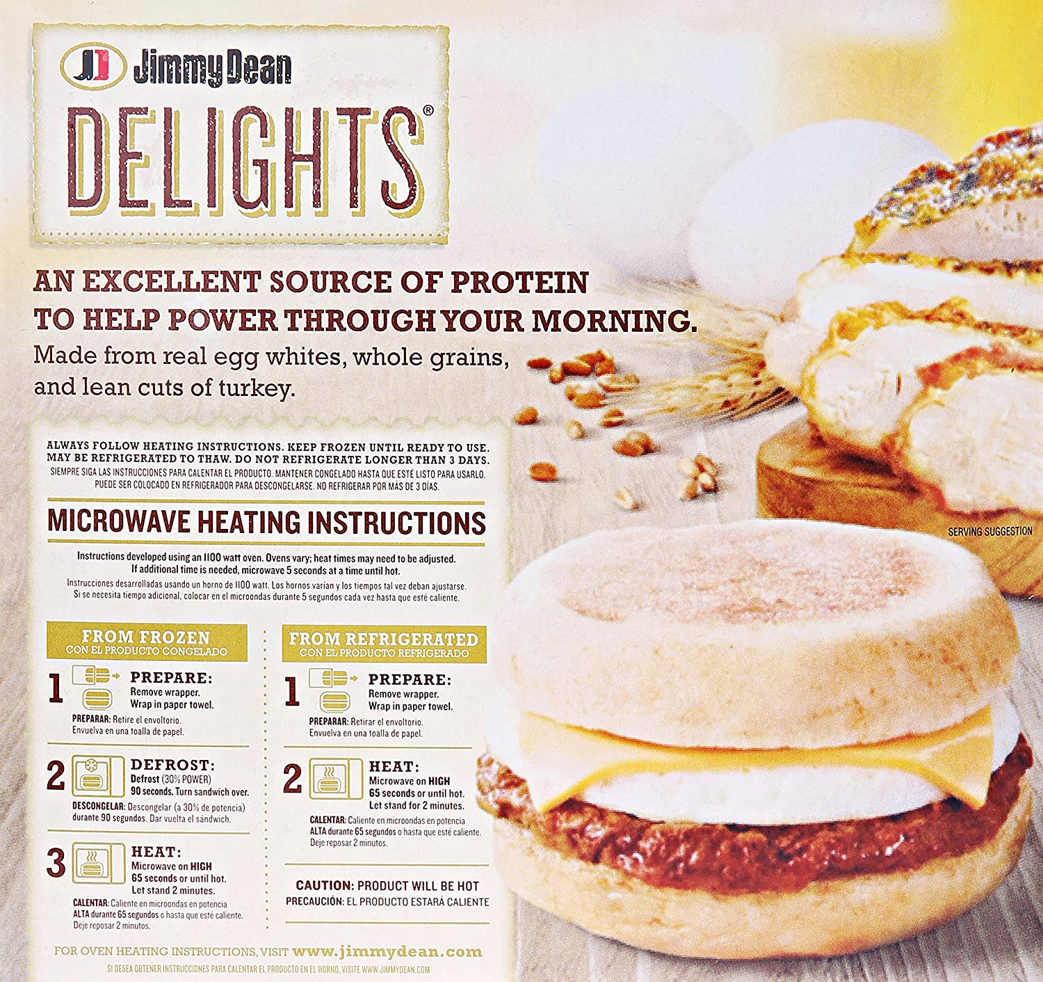 Jimmy Dean, Delights Turkey Sausage, Egg & Cheese English Muffin, 8 ct (frozen): Amazon.com: Grocery & Gourmet Food