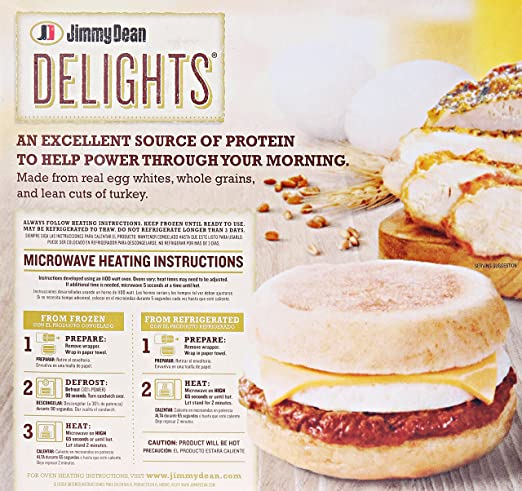 Jimmy Dean Delights Turkey Sausage Egg Cheese English Muffin 8