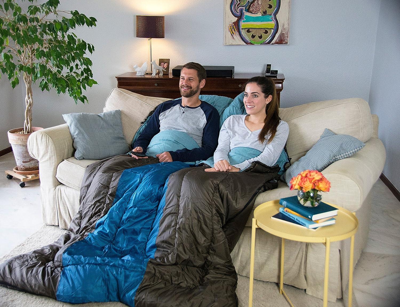 Warm Filling Coleman Sleeping Bag Hudson 2 Season Rectangular Sleeping Bag Indoor /& Outdoor for Adults