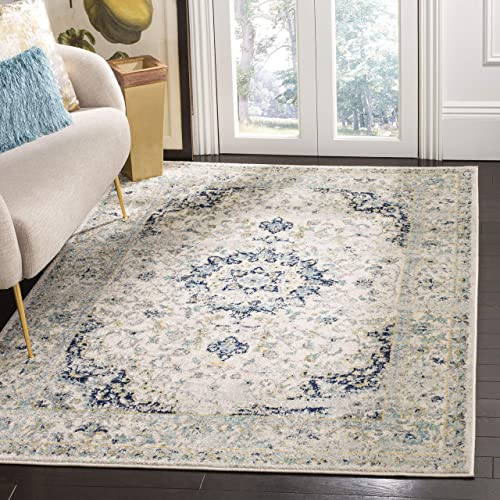 Safavieh MAD155M-9 Rug, 9 x 12 , Ivory Blue
