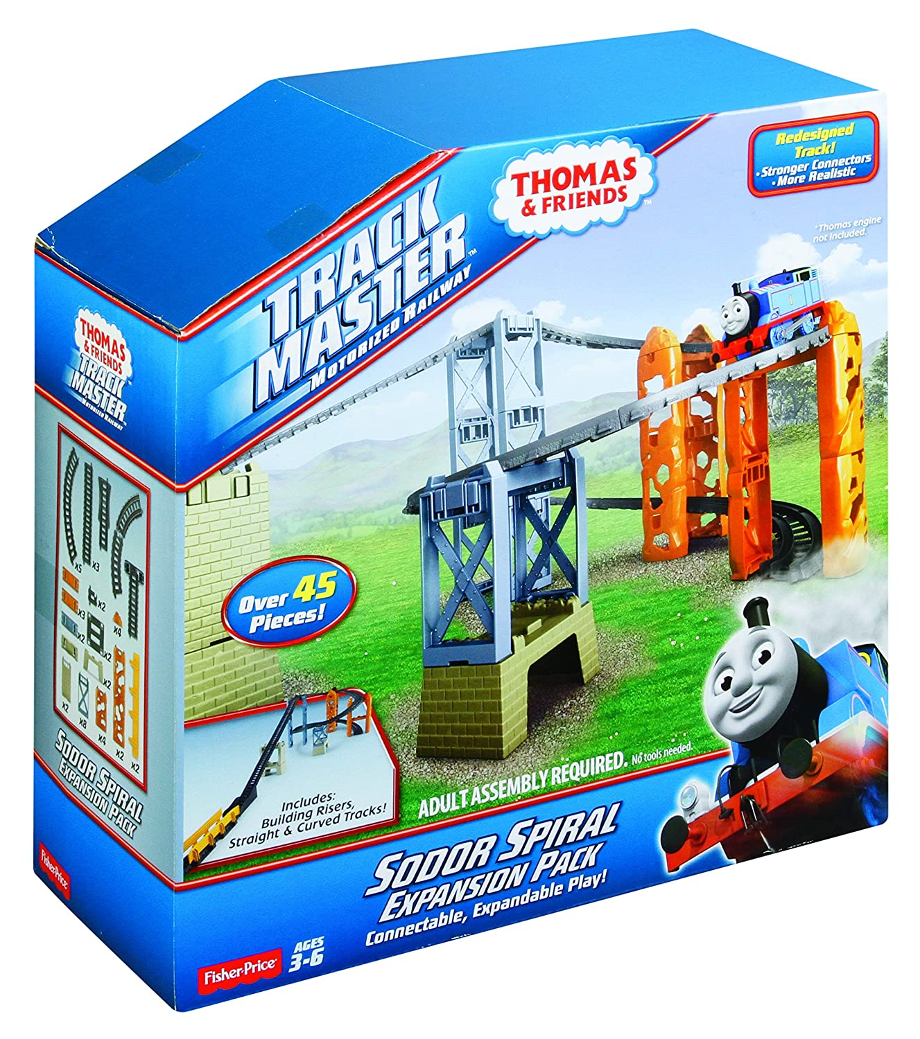 Fisher price thomas amp friends trackmaster treasure chase set new - Amazon Com Fisher Price Thomas Friends Trackmaster Sodor Spiral Expansion Pack Toys Games
