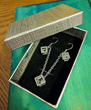 Colgante estilo caja de Pandora de color oro y plata con diamante ...