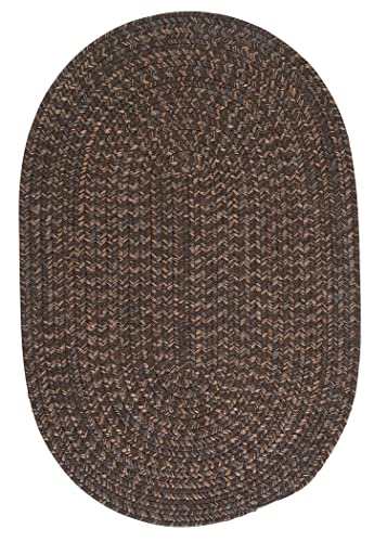 Hayward Oval Area Rug, 4 by 6-Feet, Bark