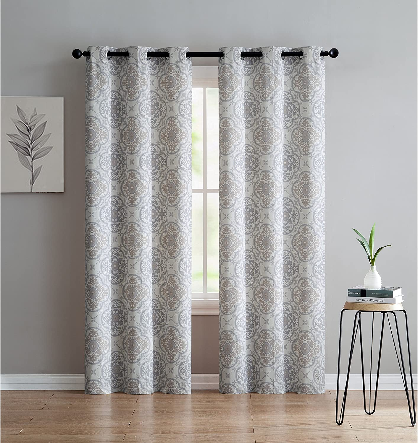 VCNY Home Winsted Window Treatment Curtains 76x84, Silver