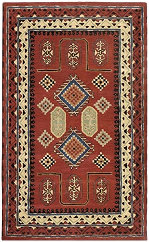 Traditions Bravura Rug, 5-Feet by 8-Feet, Red