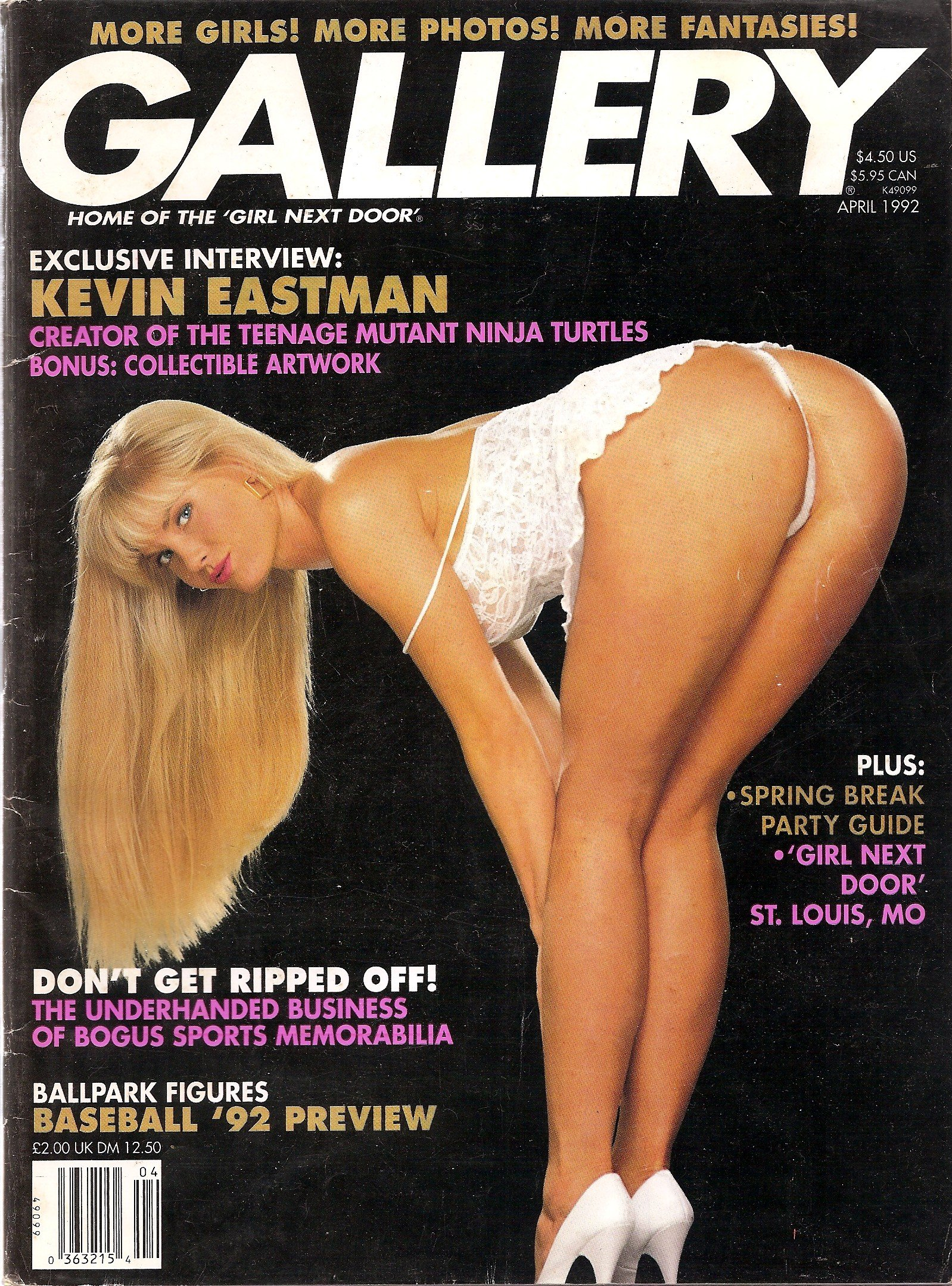 Amazon.com: Gallery Adult Magazine April 1992 Teenage Mutant ...