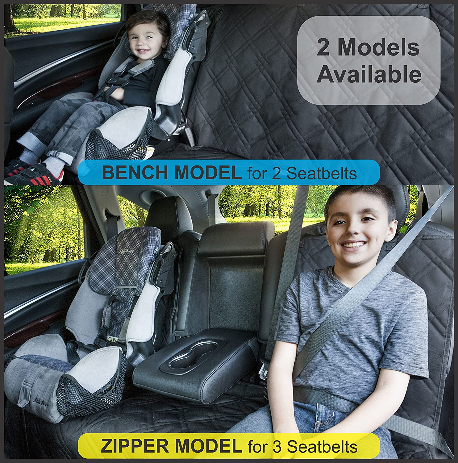 Available in Black Or Blue. Bench Seat Protector for Infant Carseats Lifelong Promise Catch Crumbs /& Spills