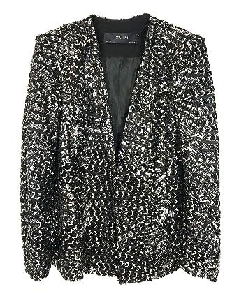 Zara - Chaqueta - para mujer Negro negro XL: Amazon.es: Ropa y ...