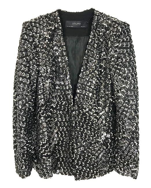 Zara - Chaqueta - para mujer Negro negro XL: Amazon.es: Ropa ...