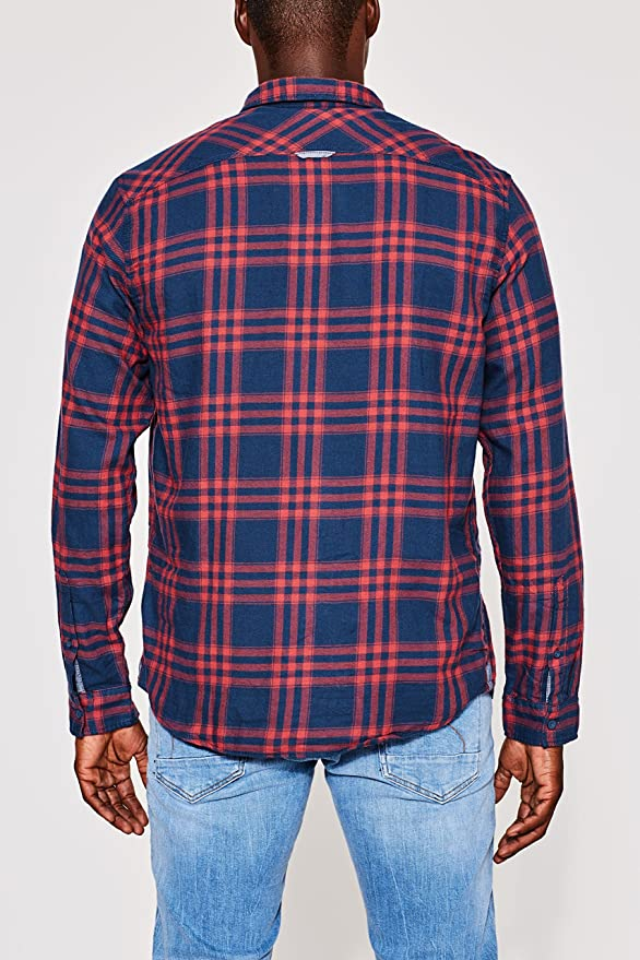 edc by ESPRIT 097cc2f010 Camisa Hombre Regular Fit, Rojo (Red 630), Medium: Amazon.es: Ropa y accesorios