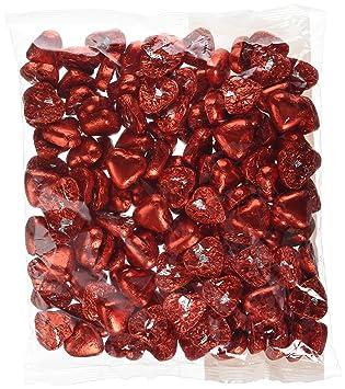 Corazones de crema de caramelo con leche de chocolate rojo - 1 kg. Regalo ideal para bodas / valentines: Amazon.es: Juguetes y juegos