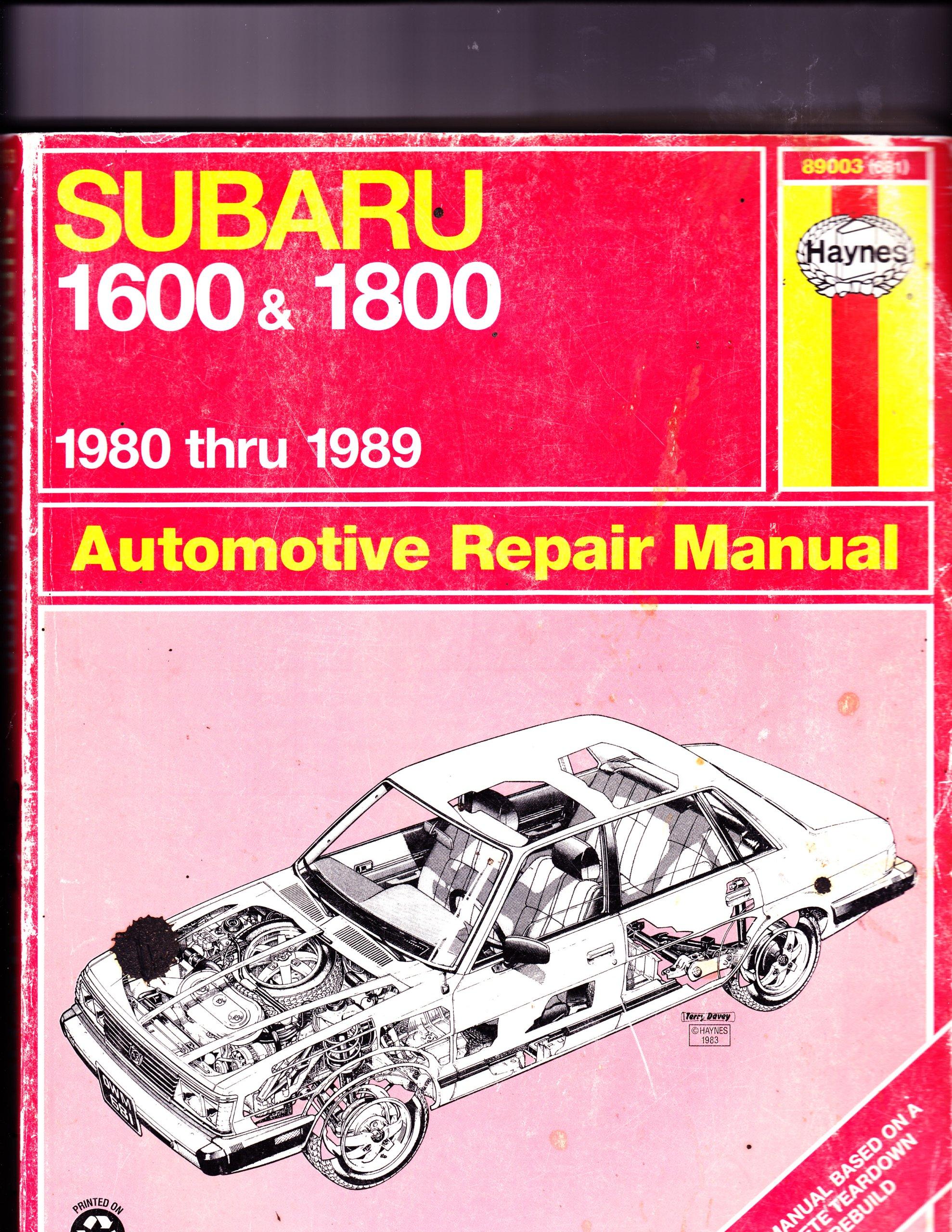 Subaru 1600 and 1800 1980 Thru 1989 Automotive Repair Manual (Book No 681):  Haynes: 9781850107019: Amazon.com: Books
