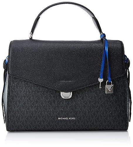 8c485c722881 Michael Kors Womens Lenox Satchel Black (Blk Pwt Elbl)  Amazon.co.uk  Shoes    Bags