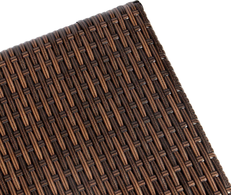 40 x 44 x 44 cm de Polirat/án Reposapi/és en Marr/ón o Negro Vanage Taburete Plegable de Aluminio