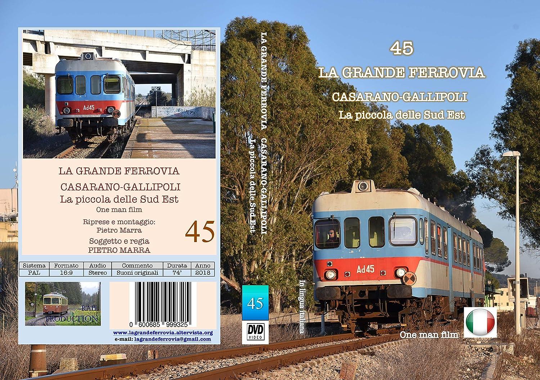 b6ede53acd123 COLLANA LA GRANDE FERROVIA - 45 - CASARANO-GALLIPOLI - La piccola delle Sud  Est  Amazon.it  Film e TV