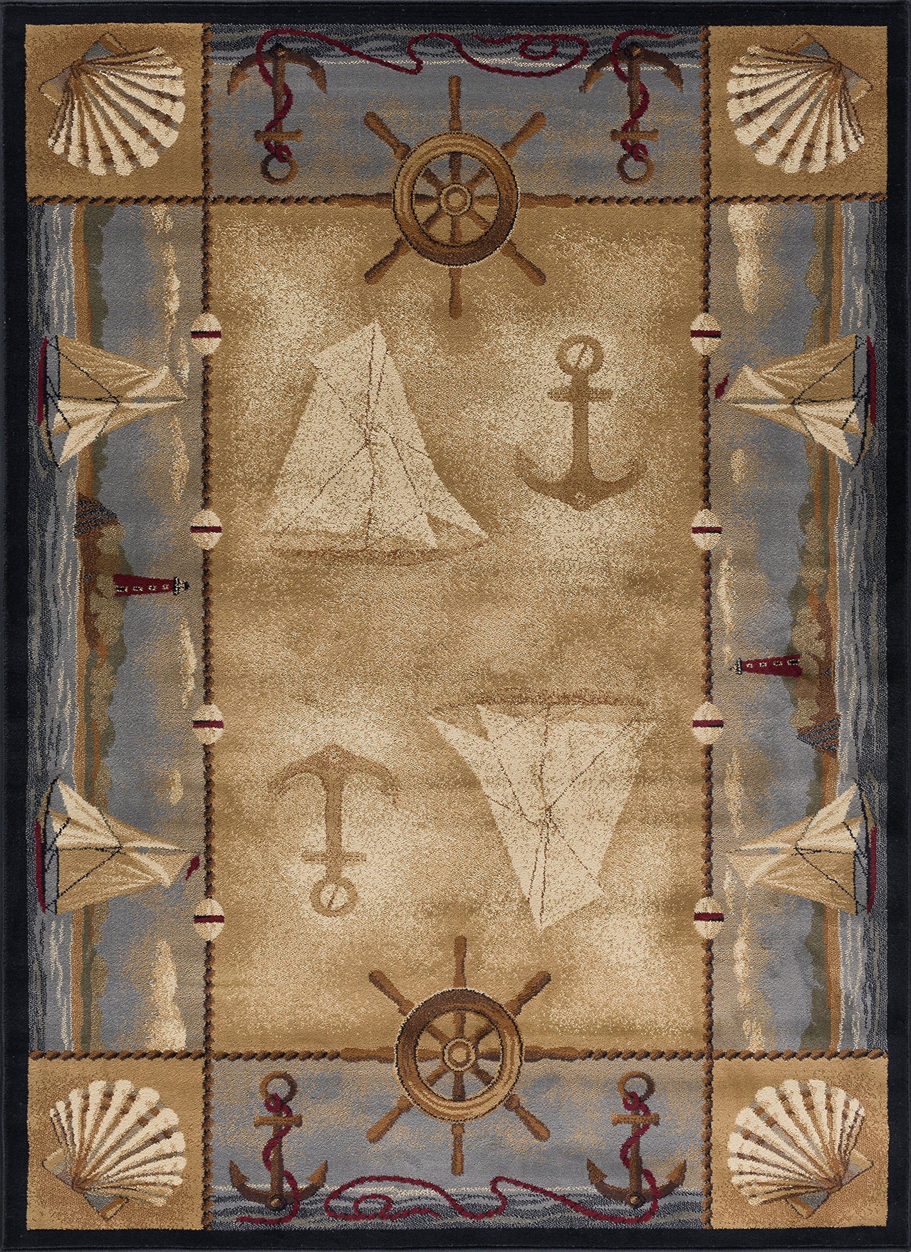 Nautical Rugs 5x8 Amazon Com