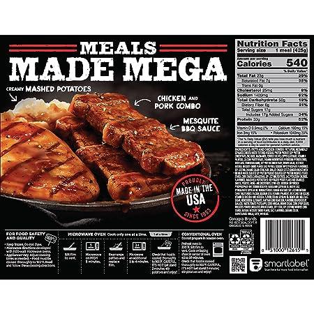 Banquet Mega Meals Backyard Bbq Combo Frozen Dinner 15 Ounce