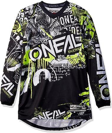 ONeal Unisex-Adult Element Attack Jersey Black//Hi-Viz Youth Large