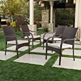 Florianopolis Brown Wicker Stacking Chairs (Set of 4)