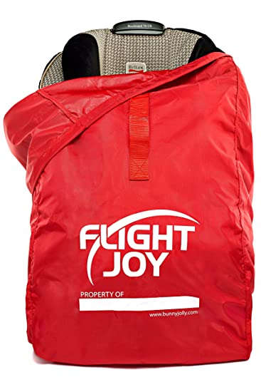 Flightjoy Car Seat Travel Bag Best For Airport Gate Check Ultra Durable Carseat Airplane Bag With