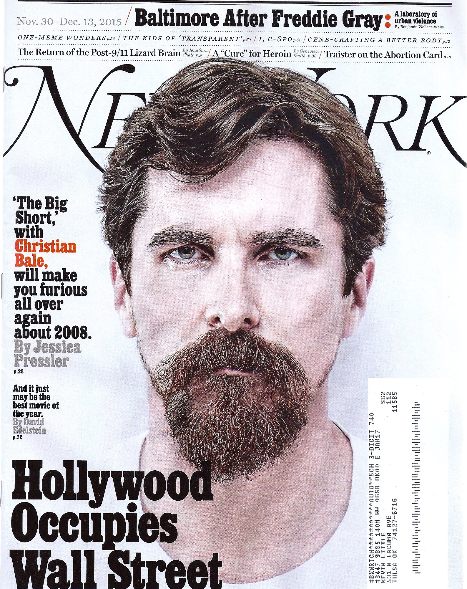 Christian Bale (The Big Short) l Baltimore After Freddie Gray l A