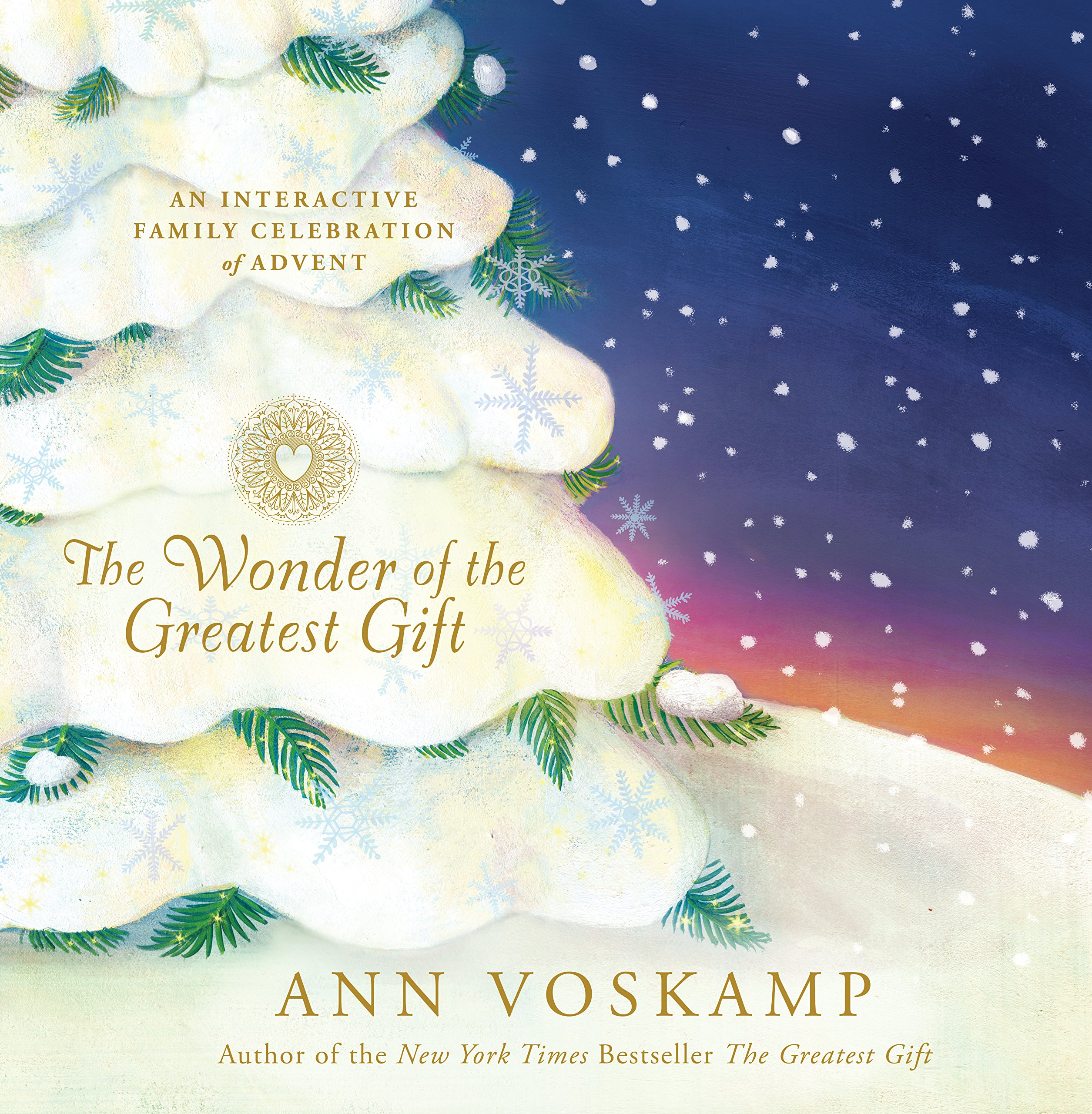 The wonder of the greatest gift an interactive family celebration the wonder of the greatest gift an interactive family celebration of advent ann voskamp 9781496427991 amazon books kristyandbryce Image collections