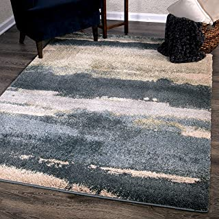 """product image for Orian Rugs Canyon Area Rug, 5'3"""" x 7'6"""", Soft Blue"""