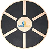 UNIQBEST Wooden Wobble Balance Board Platform For Physical Therapy Training - Exercise Equipment Stability Balancing Trainer-for Men Women