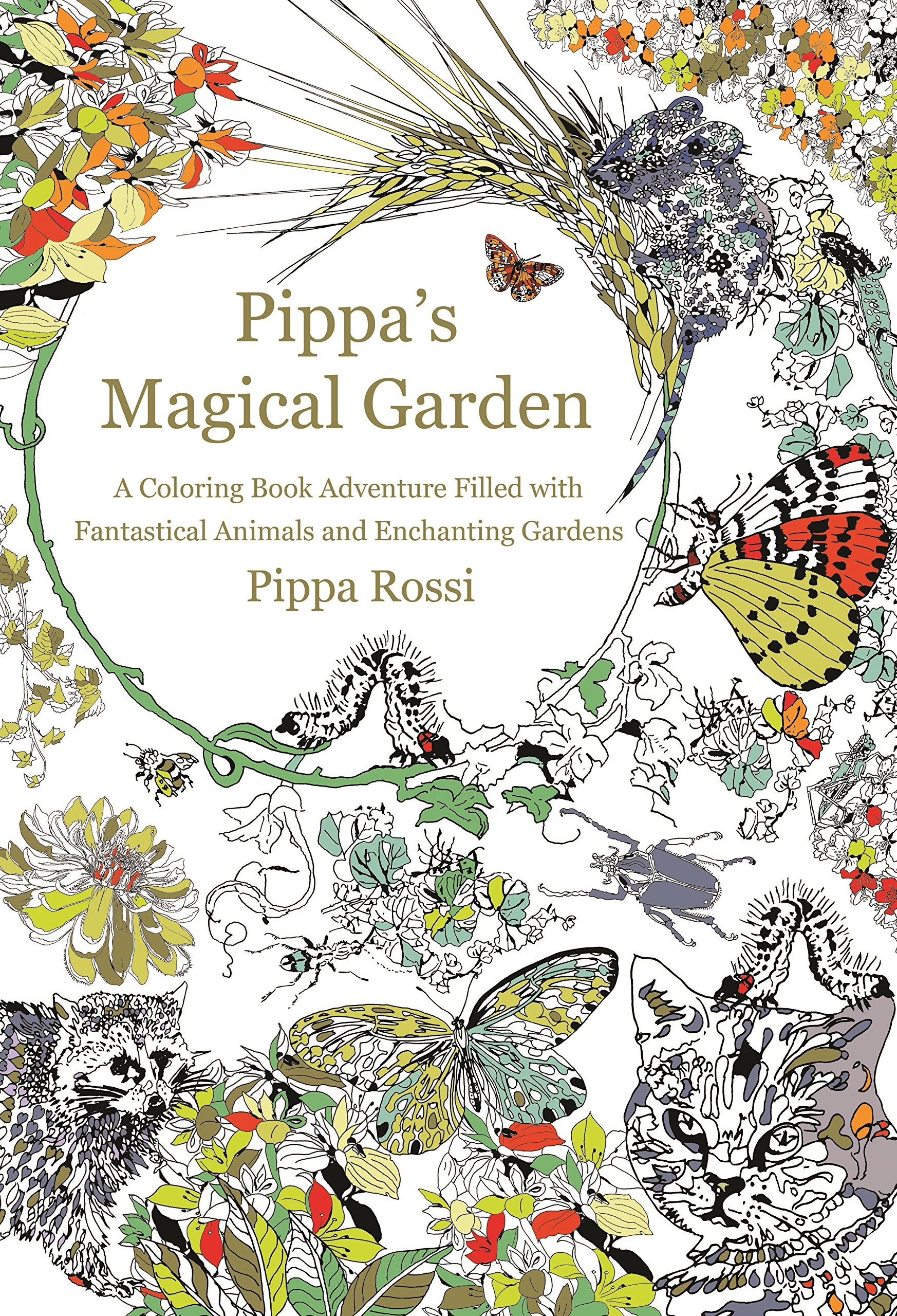 Amazon Com Pippa S Magical Garden A Coloring Book Adventure Filled