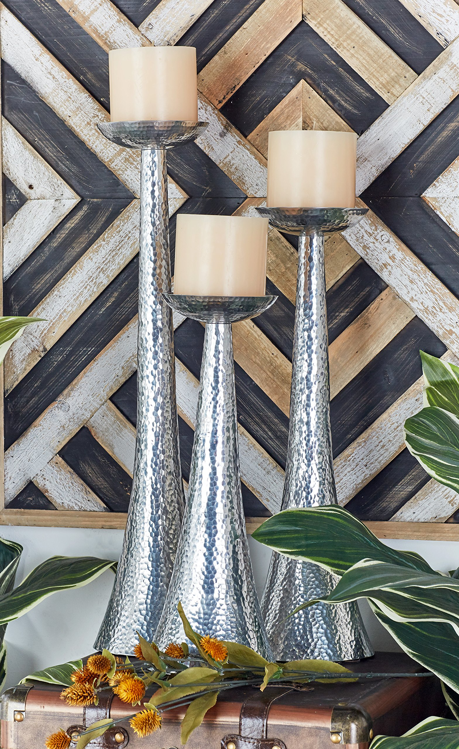Deco 79 Aluminium Candle Holder, 23 by 20 by 16-Inch, Set of 3 by Deco 79 (Image #4)