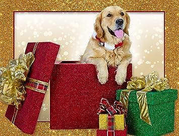 """HAND MADE GOLDEN RETRIEVER CHRISTMAS CARD 6/"""" X 6/"""" /& ENVELOPE"""