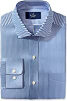 Buttoned Down Men's Classic Fit Spread-Collar Pattern Non-Iron Dress Shirt (Pocket)