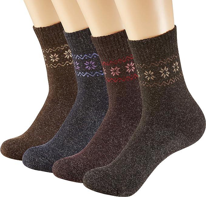 1.3.6 PAIRS LADIES LONG WOOL BOOT SOCKS OUTDOOR HIKE WALKING WOMENS WOOL SOCKS