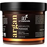 ArtNaturals Professional Argan Oil Pomade - (4 Oz / 113g) - Strong Hold for All Hair Types – Natural Hair Styling Formula – Men and Women – Made in USA – Thick, Straight and Curly Hair