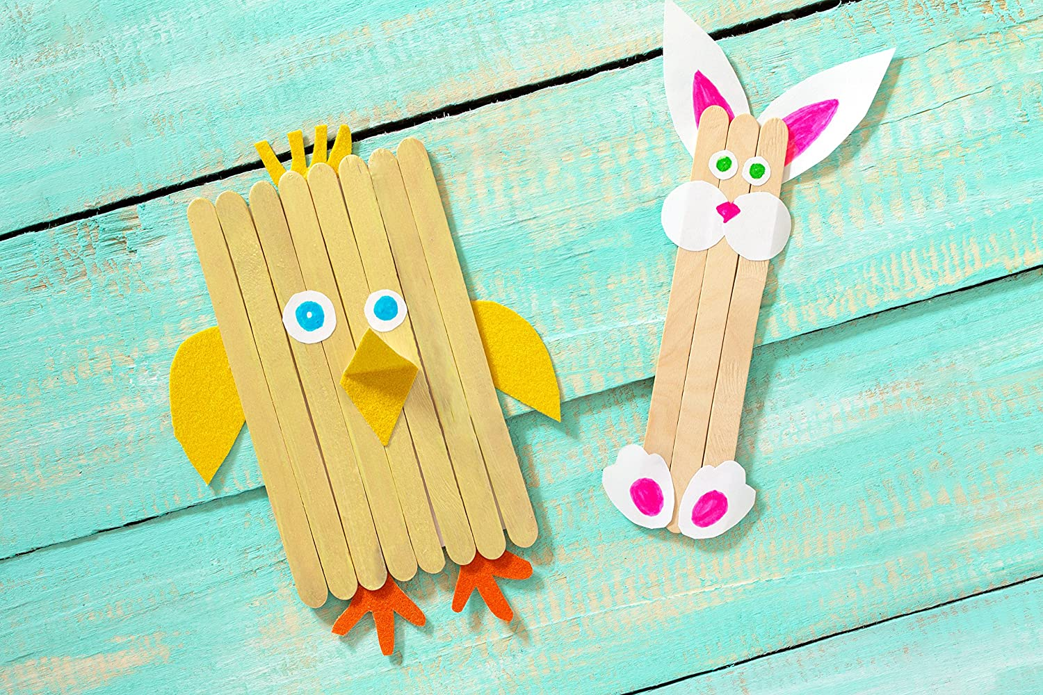 Artlicious Natural Wooden Food Grade Popsicle Craft Sticks 1000 Sticks