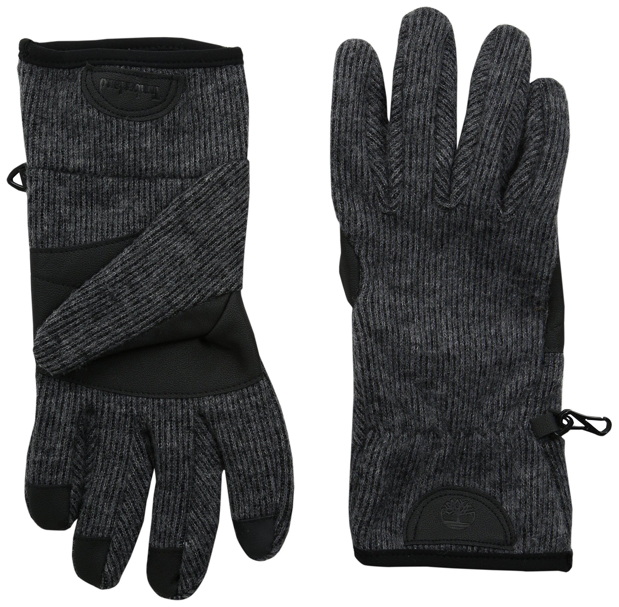 Timberland Men's Ribbed Knit Wool Blend Glove with Touchscreen Technology, Charcoal, X-Large