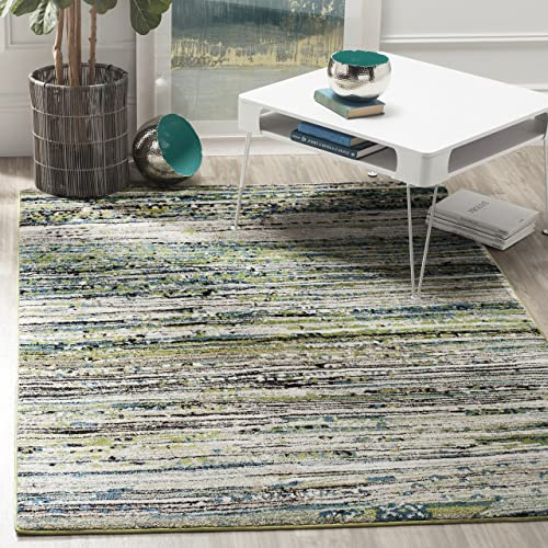 Safavieh Evoke Collection EVK252C Ivory and Blue Area Rug 8 x 10