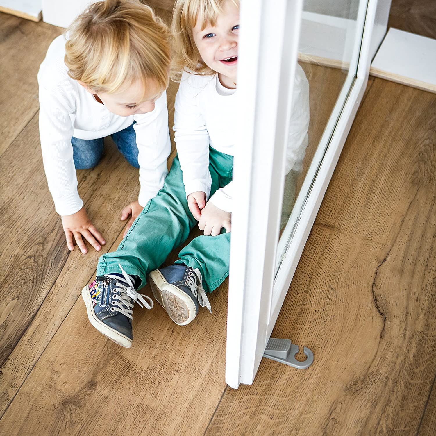 Home and Office Non-Skid for Baby Safety Grey Hauck Stop Me Door Stopper Wedge Pack of 2