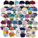 BambooMN Brand - Eyelash Yarn Surprise Package - 50g - 6 Skeins