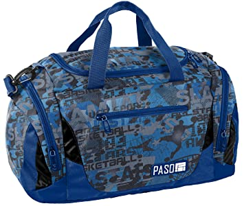 42617e89a52f6 Sporttasche Reisetasche Mädchen Jungen Damen Sauna Tasche Sport Schul  Weekender (Blau Basketball)