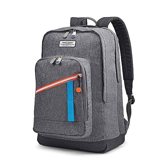 "American Tourister Keystone Backpack, Grey Heather, 18"""